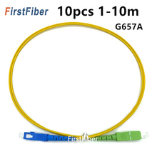 FirstFiber 10PCS 1m 2m 3m SC APC naar SC UPC Fiber Patch Kabel G657A, jumper, Patchkabel Simplex 2.0mm SM 5m 10m