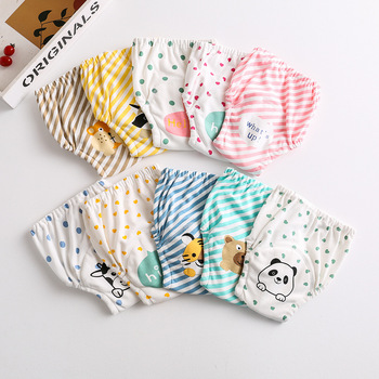 Baby Gauze Diaper Waterproof Washable Diaper Cotton Diaper Cover Baby Training Pants Pull up Diaper Reusable Diaper Washable