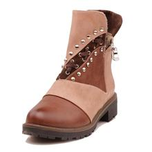 New Women Ankle Boots Winter Shoes Warm Big Size Rivet