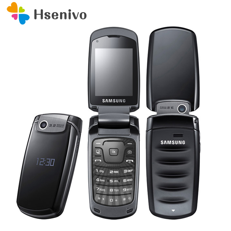 Samsung S5510 S5511 Unlocked 2.2 Inches GSM WCDMA 3MP Bluetooth FM Radio Mp3 Flip Mobile Phone With Hebrew Langauge And Keyboard