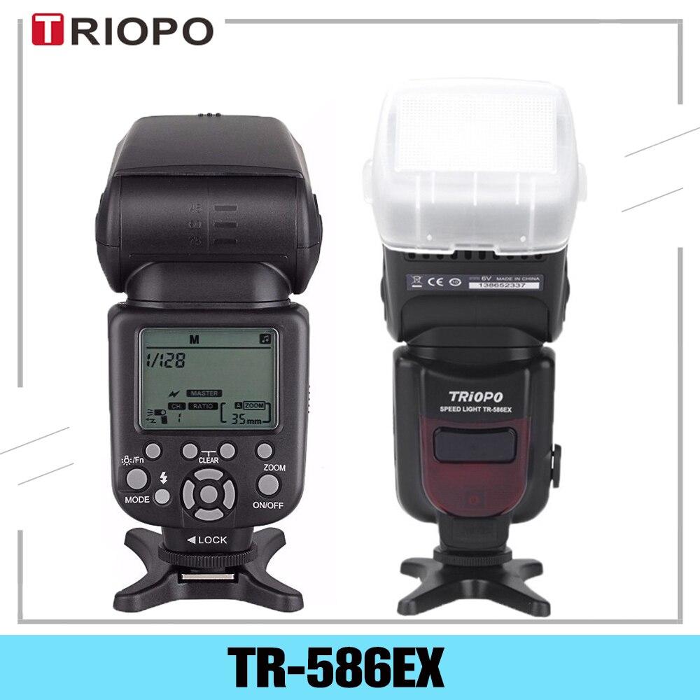 Triopo TR 586EX TTL Беспроводная Вспышка Скорость lite фото для Nikon Canon EOS 450D 60D 80D камера скоростной светильник как YONGNUO YN 568EX II