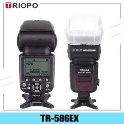 Triopo TR-586EX Ttl Wireless Flash Speedlite Foto Voor Nikon Canon Eos 450D 60D 80D Camera Speed Licht Als Yongnuo YN-568EX ii