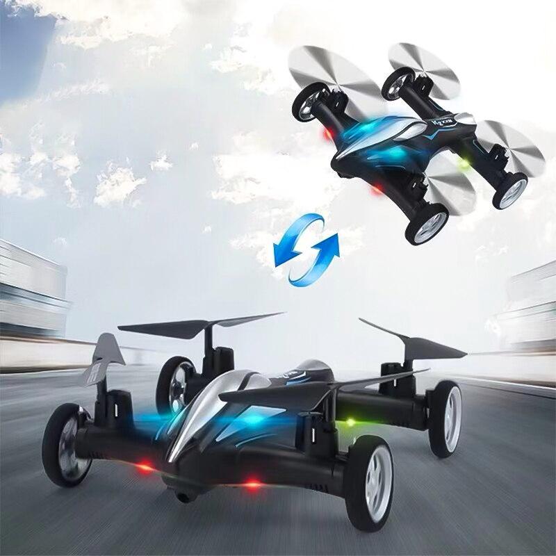 Enfants jouet terre et Air double Mode Durable Intelligent télécommande quatre axes avion Drone un bouton retour hélicoptère RC