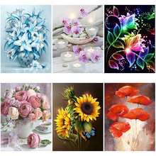 DIY 5D Diamond Painting Flower Diamond Embroidery Landscape Cross Stitch Full Round Drill Rhinestone Mosaic Art Wall Home Decor diapai 100% full square round drill 5d diy diamond painting flower landscape diamond embroidery cross stitch 3d decor a21095