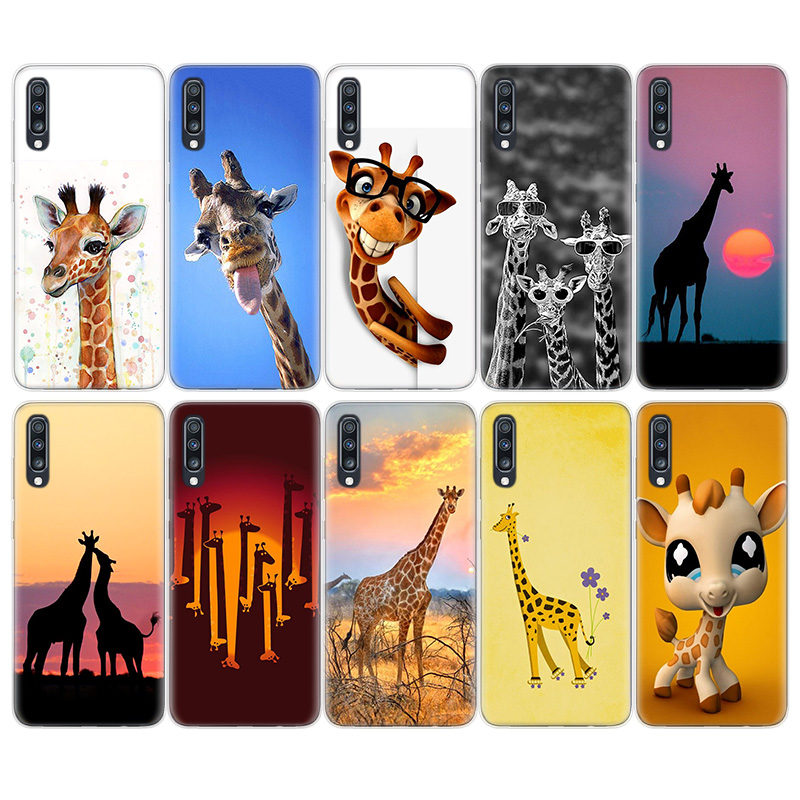 <font><b>Funny</b></font> Cartoon Giraffe Soft TPU <font><b>Case</b></font> For <font><b>Samsung</b></font> Galaxy S20+ S20 S10 S9 S8 Plus S10E S6 S7 Edge <font><b>Note</b></font> 8 <font><b>9</b></font> 10 Pro Cover Capas image