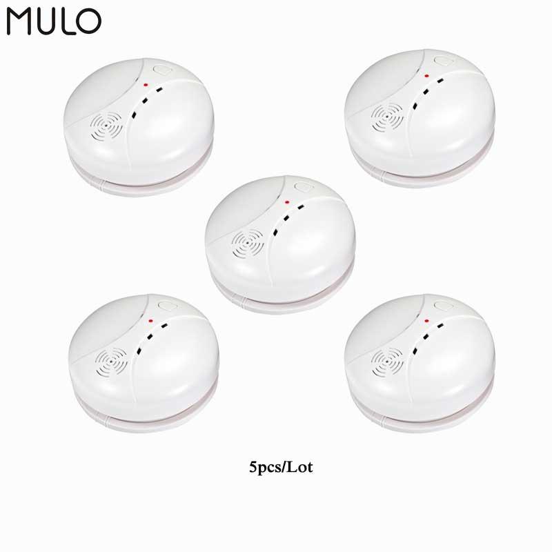 Беспроводной независимый детектор дыма MULO, высокочувствительный датчик Пожарной защиты, Домашняя безопасность