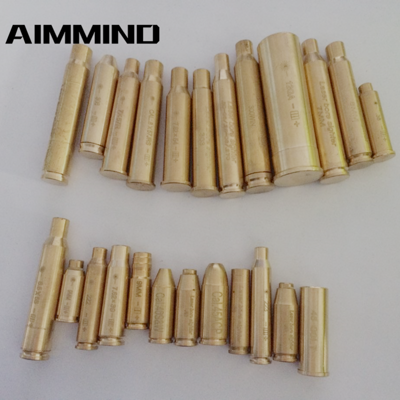 12GA .308 .3006 7X57R 7.62x39 8mm 8x57JRS 222 7.62X54 7mm 300 .223 9mm  Cartridge Red Laser Bore Sighter Collimator Boresighter