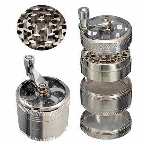4-layer Aluminum Herbal Herb Tobacco Grinder Smoke Grinders grinder weed herb grinder Cigarette Accessories(China)