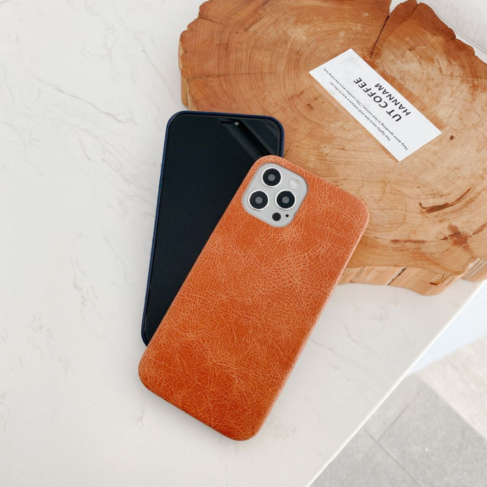 Luxury Leather Plain Candy Color Matte Waterproof Phone Case For iPhone 12 Pro Max 1