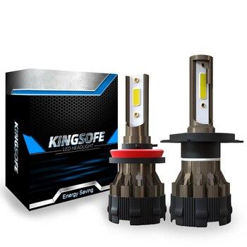 2 шт. H7 H4 светодиодный фар HB3 HB4 H1 светодиодный лампы для автомобиля H11 H8 9005 9006 Авто фары Автомобильный 12V 6000K низкая дальнего света