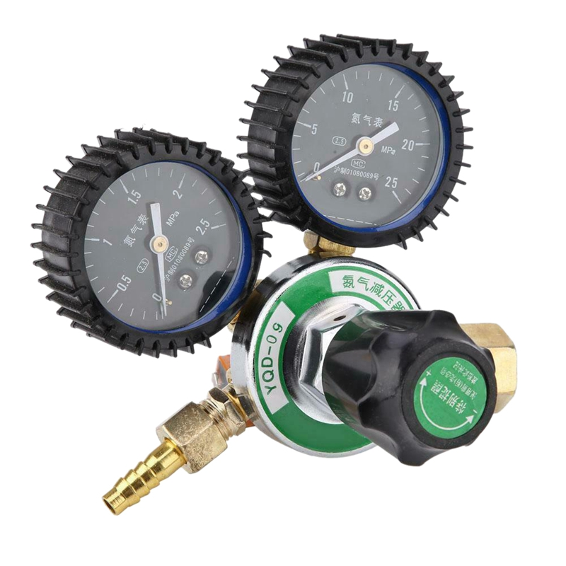 YQD-09 Nitrogen Pressure Reducer Welding Regulator Gauge With Protective Film G5/8