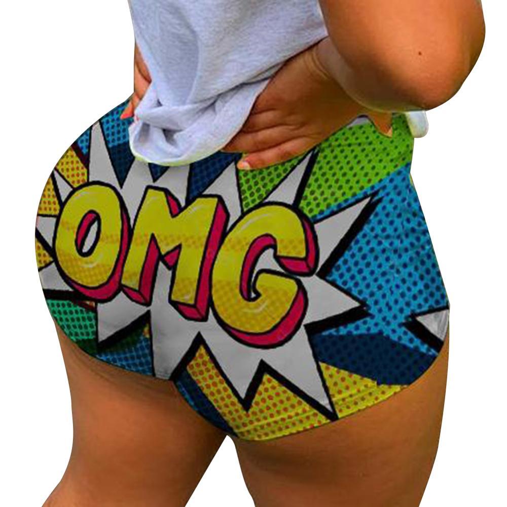 Шорты женские с высокой талией, спортивные облегающие Пикантные мини-штаны с надписью, уличная одежда, лето
