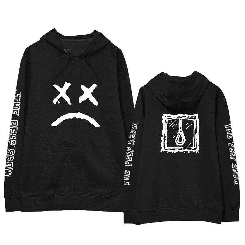 Lil Peep Hooded Pullover Sweatshirts KPOP Casual Loose Plus Size Hoodies Hip Hop Streetwear Lil.peep Men/women Tee Tops K-pops