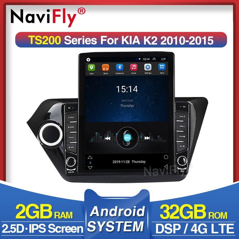 NaviFly Vertical Tesla Screen HD 1024*768 Fo Kia RIO 3 4 K2 2010 2011-2015 With DSP Car Multimedia Video