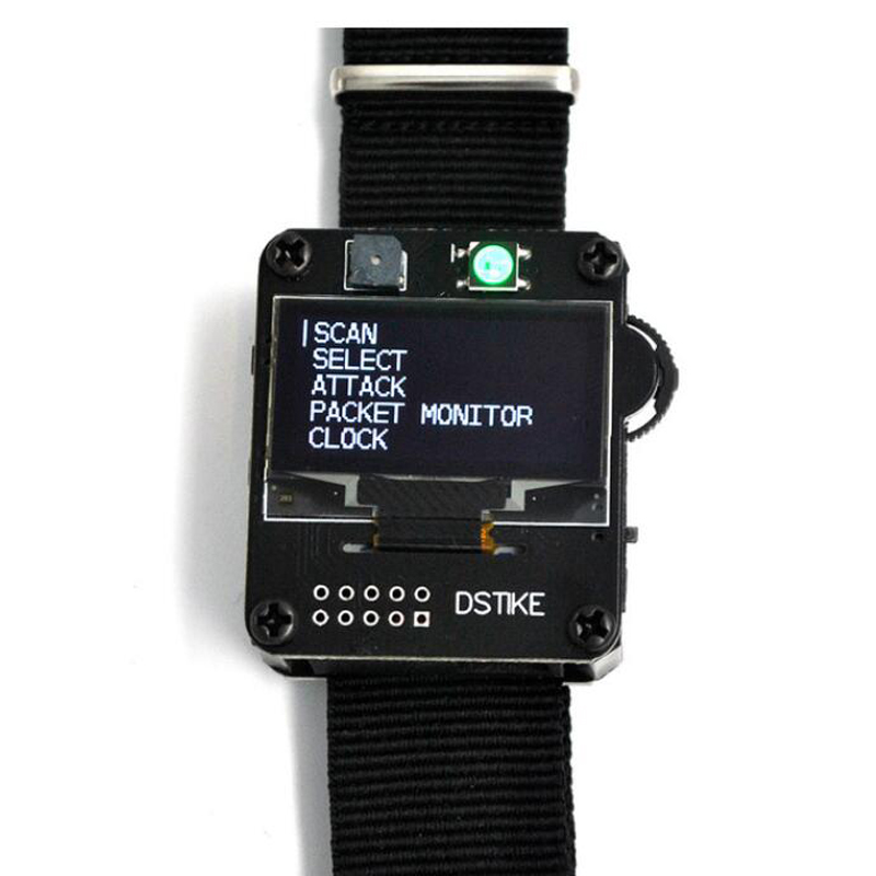 DSTIKE WiFi Deauther Watch Wristband V2 Wearable Esp Watch ESP8266 Development Board Smart Watch DevKit NodeMCU