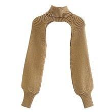 Suéter de punto de manga larga con cuello alto para mujer, Jersey informal de diseño elegante, Tops de calle, SW886