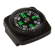 Waterproof Mini Compasses w/ Holster Watch Band Paracord Bracelet Compass Camping black 24mm x 24mm x 12mm(China)