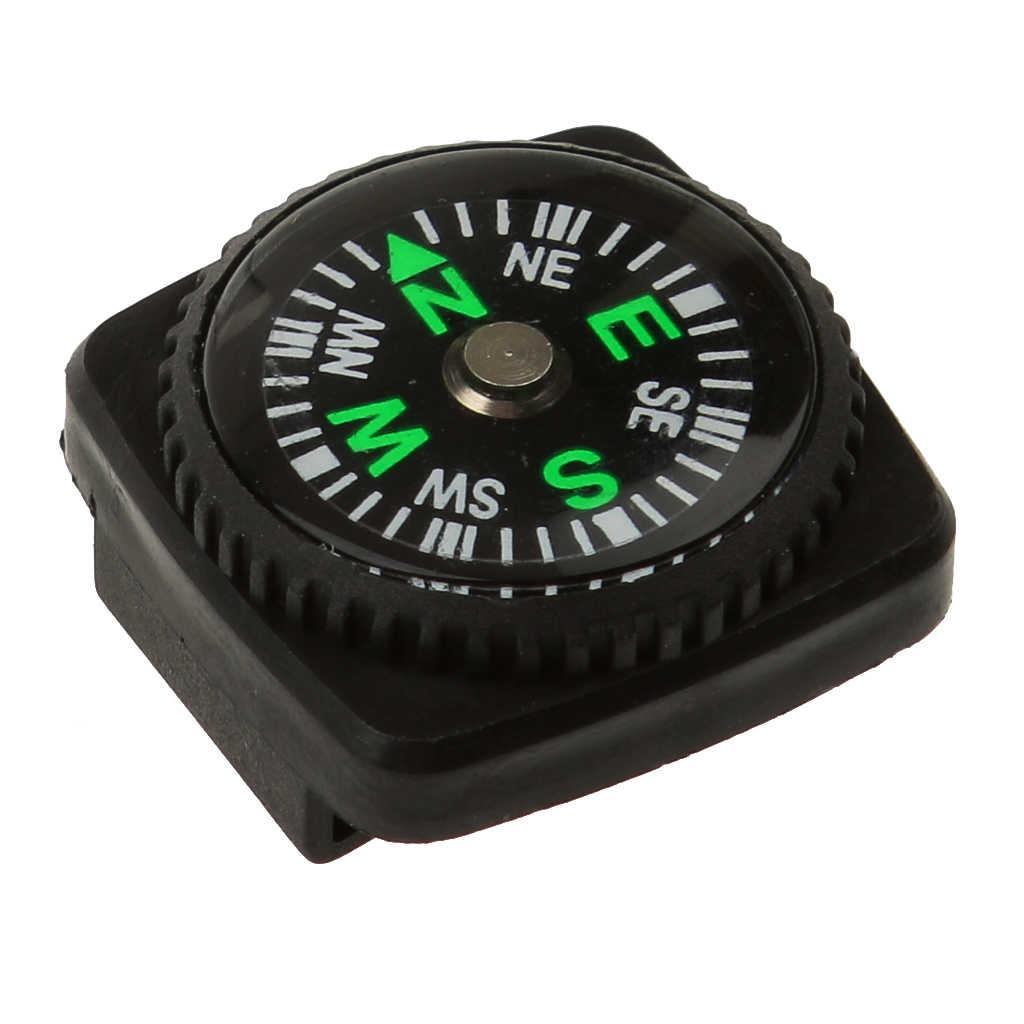 防水ミニコンパス w/ホルスター時計バンド Paracord ブレスレットコンパスキャンプ黒 24 ミリメートル × 24 ミリメートル × 12 ミリメートル