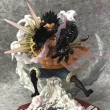 Anime One Piece Sa-maximum P.o.p Zero The Bound Man Monkey D Luffy Action Figure Decoration Home Statue Model Toys