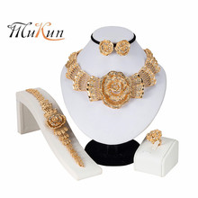 2019HOT Fashion wedding Dubai Africa Nigeria African Jewelry set Big Wedding Bride sets  Kenya Gift