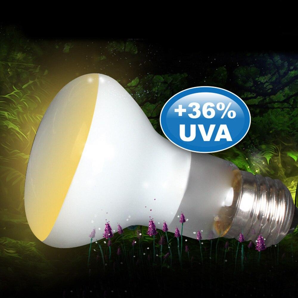 2pcs 50w Creeping Pet Sun Lamp Spot Heat Lamps Bulb Light Reptile Uva Lamp Fluorescent Lamp Insulati Soft White Glow Heat Lamp