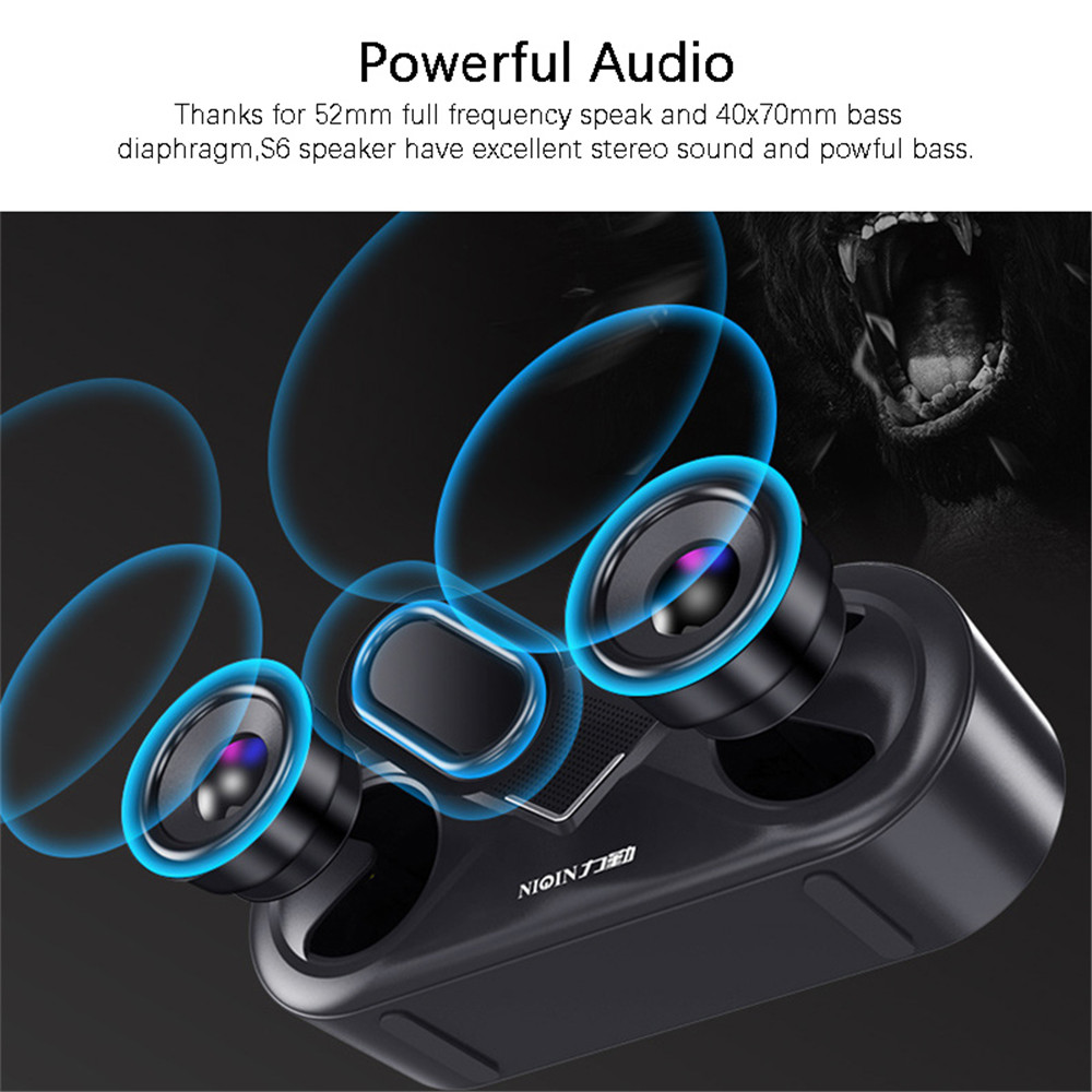 Portable Bluetooth 5.0 Speaker Wireless 4D Stereo Sound Loudspeaker Outdoor Double Speakers Support TF card/USB drive/AUX Player