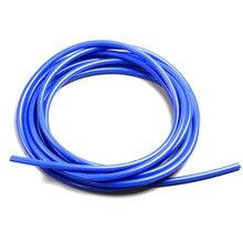 """FIFAN3mm/4 мм/6 мм 1/"""" полный силиконовый вакуумный трубчатый шланг топливный/Воздушный вакуумный шланг/линия/труба/трубка 1 метр 3,3 фута синий"""