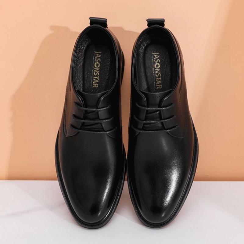 2021 New Men's Shoes Men's Business Heightening Black Leisure Fashion  Heightening Breathable  Anti Slip Wear Resistant  Kp002