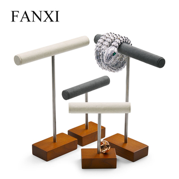 Fanxi Jewelry Display Necklace Stand Solid Wood Rack for Bracelet Ring Organizer Showcase New