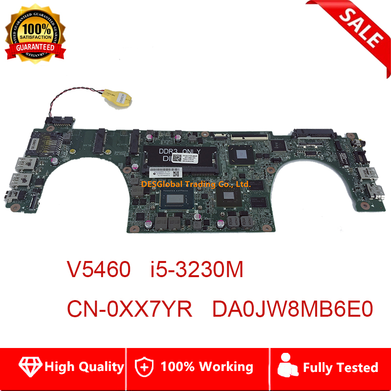 DA0JW8MB6E0 for DELL Vostro 5460 V5460 <font><b>Laptop</b></font> Motherboard <font><b>i5</b></font>-<font><b>3230M</b></font> 31JW8MB0120 CN-0XX7YR 0XX7YR XX7YR Mainboard Fully Tested image