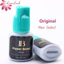 """ריס הארכת דבק מקורי 1 בקבוק קוריאה IB Ibeauty Hyper אג""""ח 0. 5S דבק מהיר ייבוש ריס הרחבות דבק כחול כובע 5ml"""
