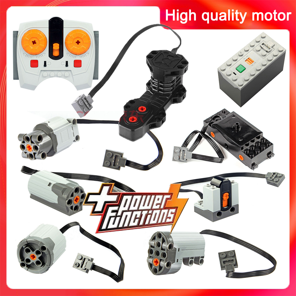 Technic Parts Motor Compatible LegoInglys Multi Power Functions Tool Ev5 Servo Blocks Train 8293 8883 PF Model Sets Building