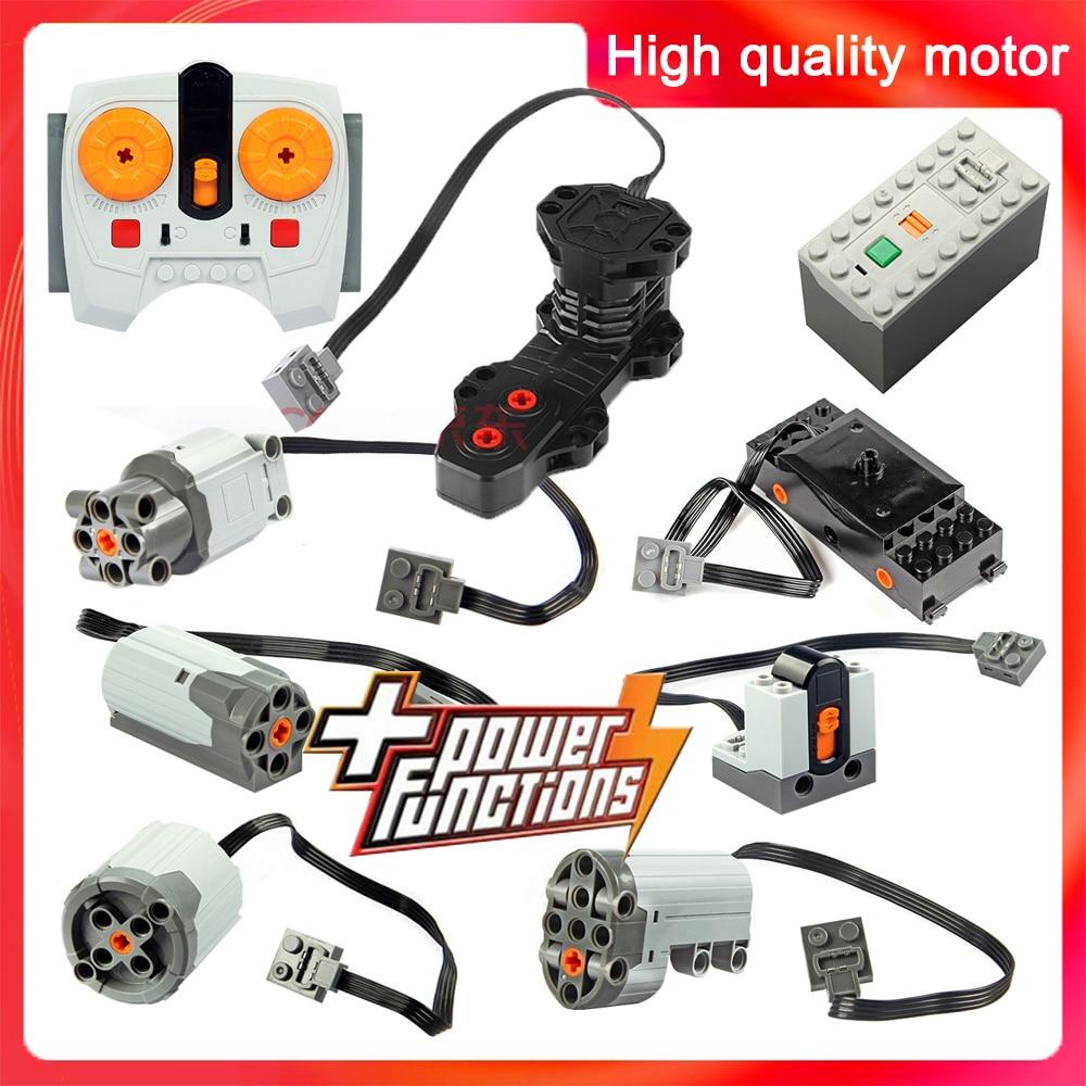 Technic Parts Motor Compatible LegoInglys Multi Power Functions Tool Ev5 Servo Blocks Train 8293 8883 PF Model Sets Building