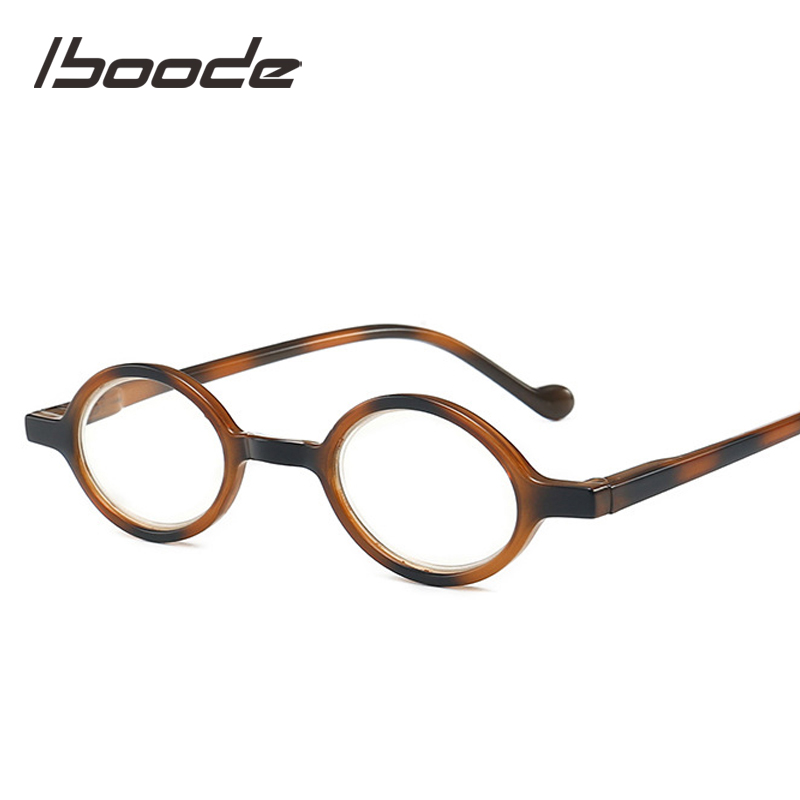 Iboode Portable Small Oval Frame Reading Presbyopia Glasses Men Women Anti Blue Rays Anti-fatigue Presbyopic Eyeglasses Reader