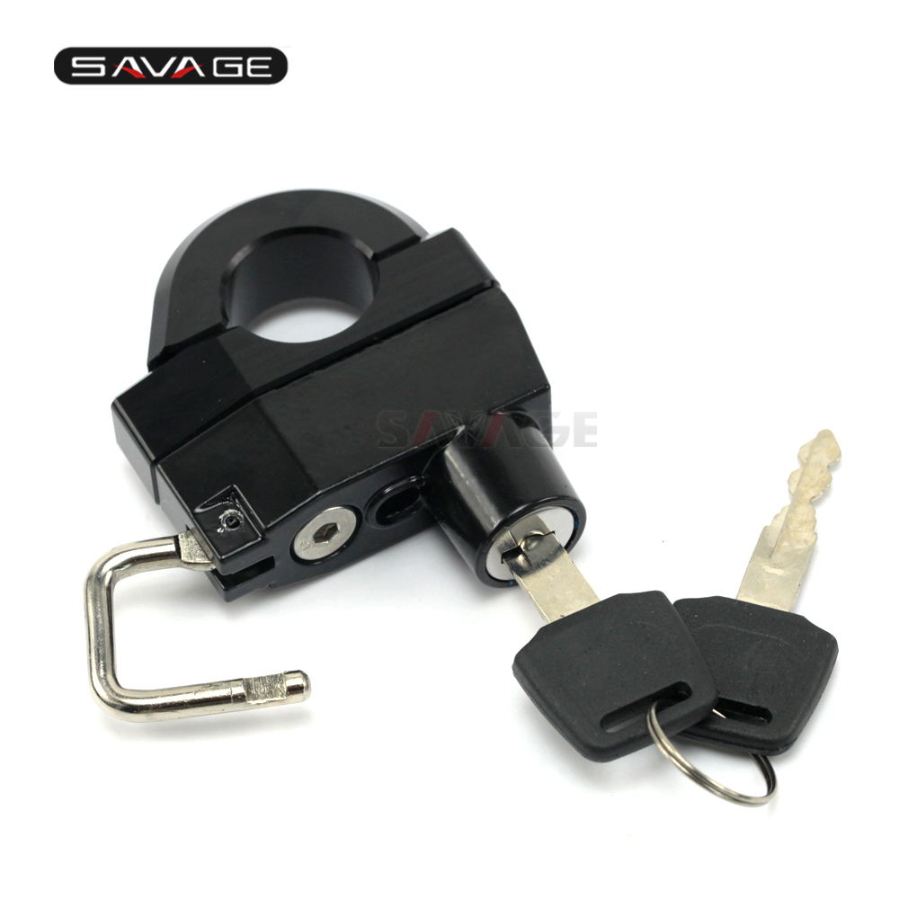 25mm Handlebar Universal Helmet Lock For YAMAHA Star Bolt Raider XVZ <font><b>XVS</b></font> 1300 <font><b>1100</b></font> 950 650 400 Drag Star V-Star XV1600 image