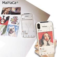 MaiYaCa Ins Diy Printed Phone Cases For iphone X XS MAX XR 7 8 6 6s plus 5 for xiaomi mi series huawei samsung