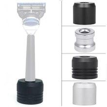 Shaver-Brush Base-Razor Barber-Tools Manual Salon Round Mustache Zinc-Alloy