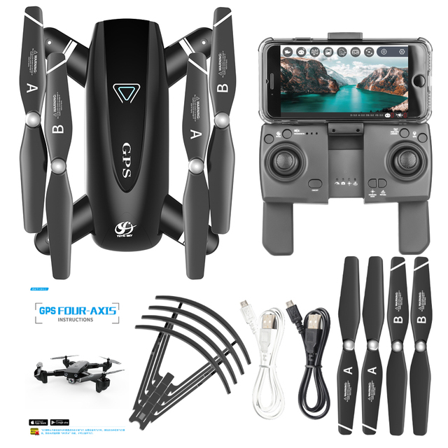 S167 GPS Drone with Camera RC Quadcopter Drone WiFi FPV Foldable Off-Point Flying Gesture Photos Video Helicopter Toy 2