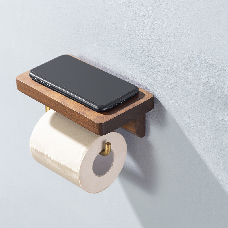 Латунь бумага рулон держатель туалет бумага полотенце держатель унитаз массив дерево ретро пасторальный стиль туалет бумага вешалка бумага полотенце хранение
