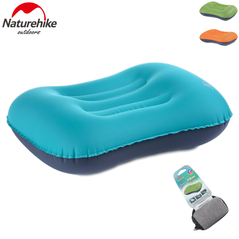 Naturehike Travel Inflatable Pillow Air Pillow Neck Camping Sleeping Gear Fast Portable TPU Office Outdoor Hiking