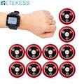 RETEKESS Беспроводная система вызова официанта для ресторана 1 черный часы приемник + 10 Кнопка вызова обслуживание клиентов беспроводные пейдж...