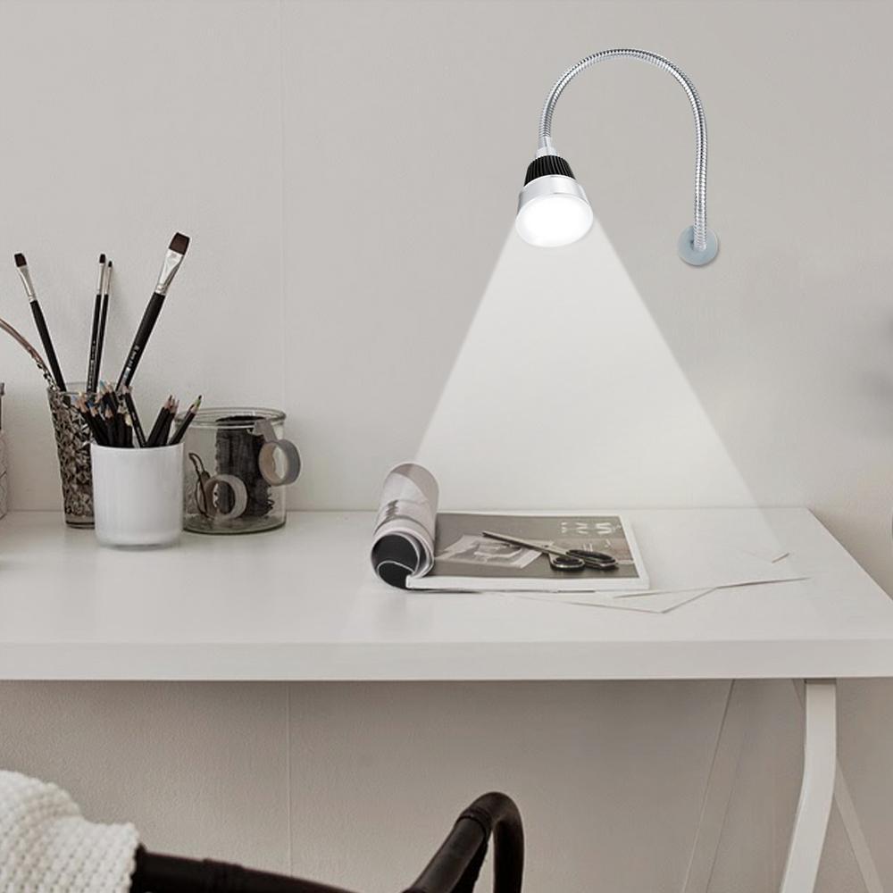 7W Protable LED Working Light Sewing Machine Lathes Lamp Magnetic Mount Base Gooseneck Lamp For Machine Study Work US Plug