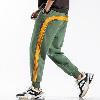 2020 ANKLE-LENGTH Sweatpants Streetwear Spring Autumn Hip Hop Harem Pants Mens Casual Korean Oversize 5XL 6XL Joggers Trouers - L FOR 170 CM 70KG, QD802 A