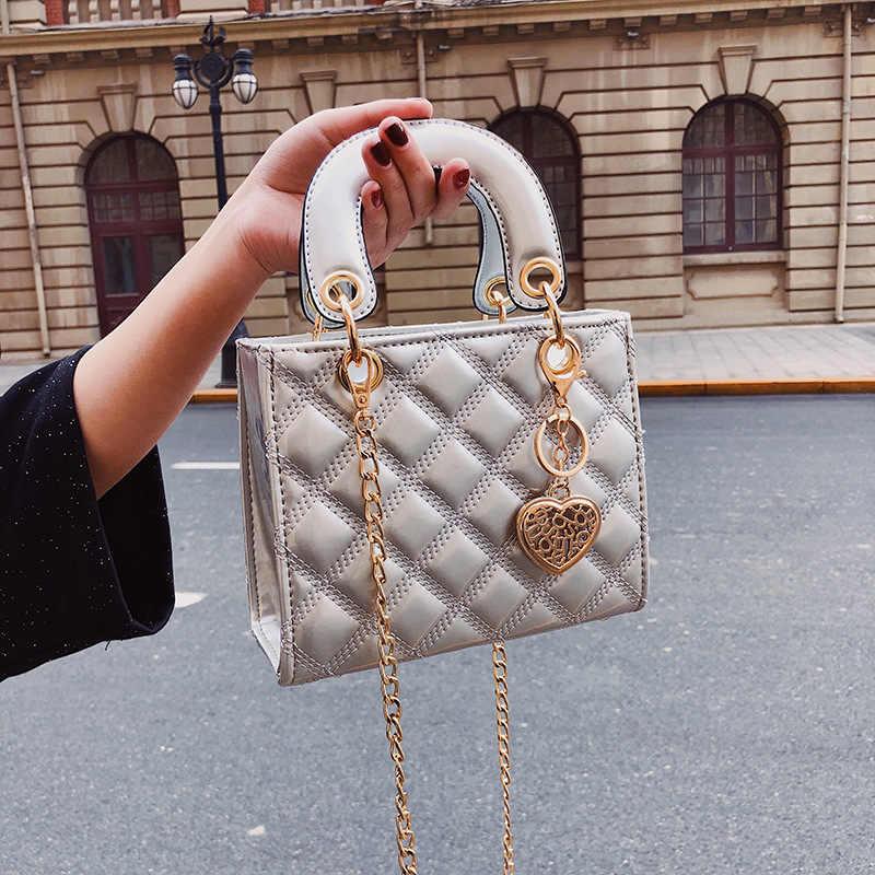 Модная Роскошная брендовая Сумка-тоут YL, женская дизайнерская сумочка из лакированной кожи, мессенджер на плечо с цепочкой