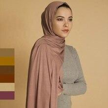 متعدد الألوان لينة القطن حجاب إسلامي فوري جيرسي الحجاب غطاء كامل غطاء التفاف وشاح شالات الإسلامية النساء عمامة رئيس الأوشحة