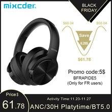 Mixcder E9 Bluetooth 헤드폰 ANC 능동형 소음 차단 무선 헤드폰 (마이크 포함) HiFi Deep Bass for TV