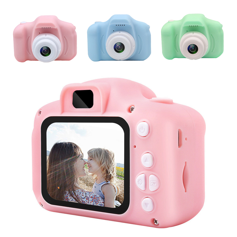 WEIXINBUY Children Kids Educational Toys Baby GiftsDigital Camera 1080P Projection Video Memory Card & Card Readers
