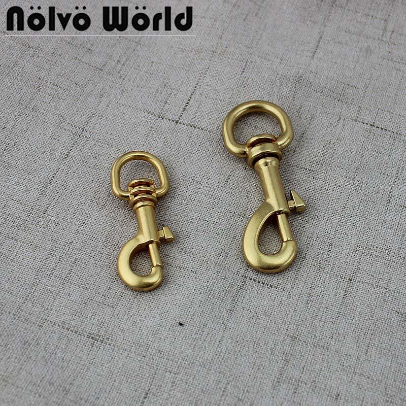 10-50 Pcs 12mm 15mm Special Gold Trigger Snap Hook Hardware Accessories Metal Handbag Steel Bolt Snap Hook Oval Swivel