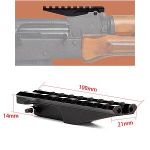 AK Sight ray dağı 100mm Picatinny Weaver 20mm kapsam kırmızı nokta optik avcılık aksesuarları taktik 7.62X39 AK 47 AK74 adaptörü