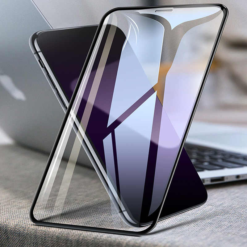 زجاج مقسى ل iphone 11 Pro Max 11 Pro 2019 غطاء كامل واقي للشاشة ل iphone XS XR XS MAX 8 7 6 Plus زجاج واقي